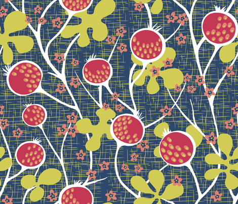 Matisse_Pomegranate fabric by yvonne_herbst on Spoonflower - custom fabric
