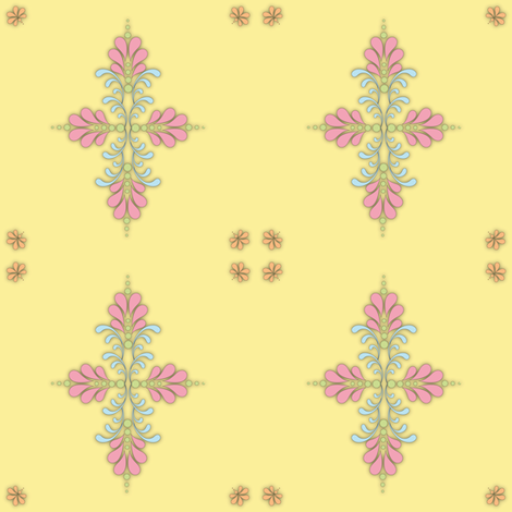 Fabric_kolam_dot_yellow fabric by vannina on Spoonflower - custom fabric