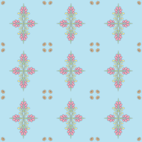 Fabric_kolam_dot_blue fabric by vannina on Spoonflower - custom fabric
