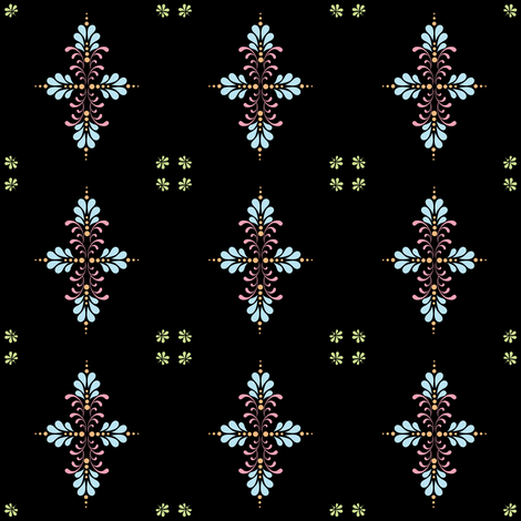 Fabric_kolam_dot_black fabric by vannina on Spoonflower - custom fabric