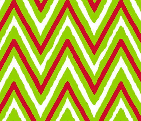 Christmas Chevron red+green fabric by fable_design on Spoonflower - custom fabric