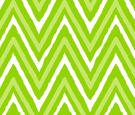 Christmas Chevron - green + white fabric by fable_design on Spoonflower - custom fabric