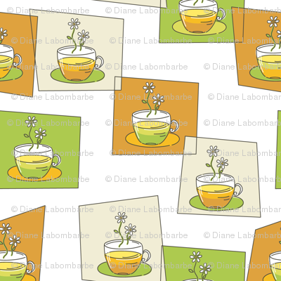 Cute Doodled Herbal Teacups