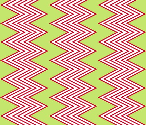 Red Zig-Zag fabric by fable_design on Spoonflower - custom fabric