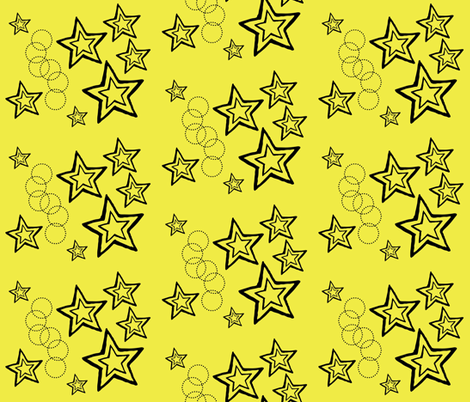 stars fabric by zippyartist on Spoonflower - custom fabric