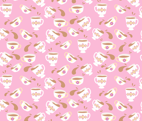 Tea Time fabric by hugandkiss on Spoonflower - custom fabric
