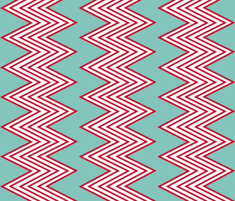 Red + Blue  Zig-Zag fabric by fable_design on Spoonflower - custom fabric