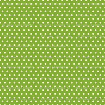 Green &amp; Cream Polka-Dot