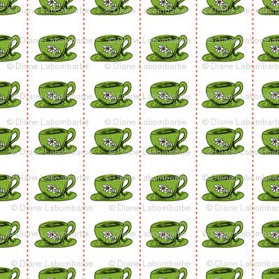 Cute Retro Style Teacups