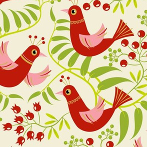 Birds, Berries and Blooms ~ Holiday