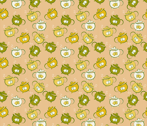 Cute Teapots  fabric by diane555 on Spoonflower - custom fabric