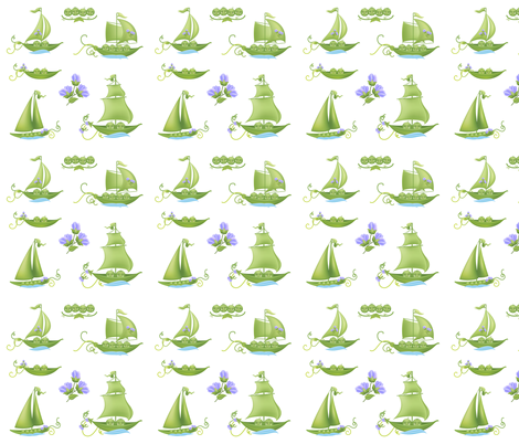 Sweet Peas In A Pod fabric by diane555 on Spoonflower - custom fabric