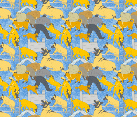 Versatile Malinois - blue fabric by rusticcorgi on Spoonflower - custom fabric