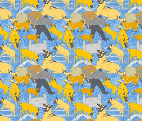 Versatile Malinois - blue fabric by rusticcorgi on Spoonflower - custom fabric