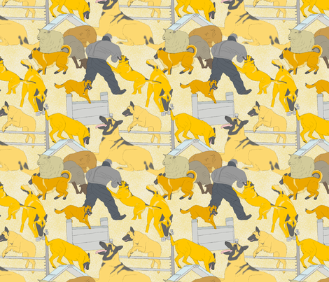 Versatile Malinois - tan fabric by rusticcorgi on Spoonflower - custom fabric
