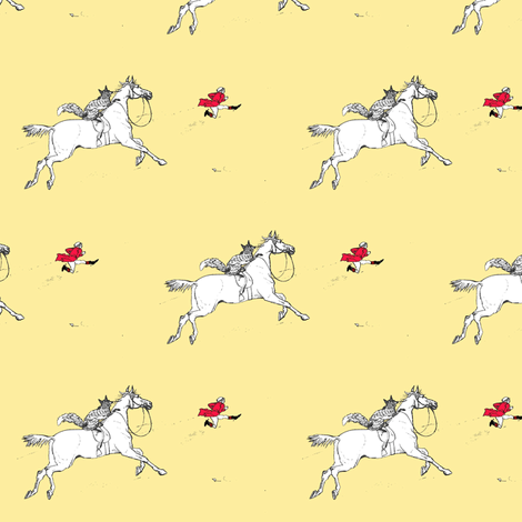 The Chase of the Huntsman fabric by ragan on Spoonflower - custom fabric