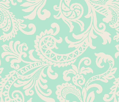 Large Scale Tiffani Paisley fabric by littlerhodydesign on Spoonflower - custom fabric