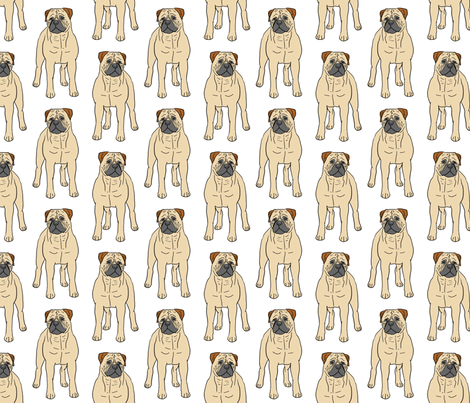 Standing Bullmastiffs fabric by rusticcorgi on Spoonflower - custom fabric