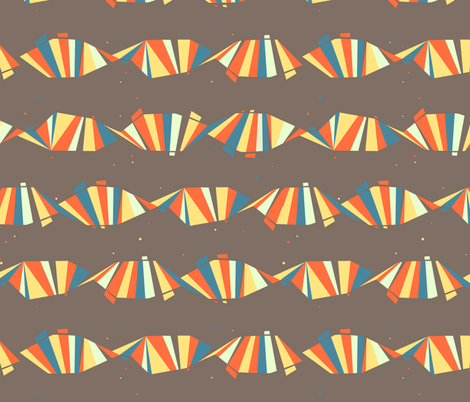 helices horizontal [natural] fabric by aperiodic on Spoonflower - custom fabric