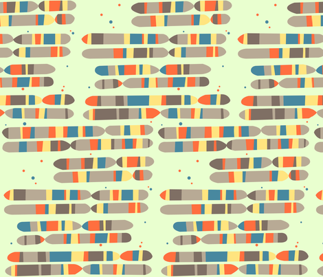 gene map horizontal [natural] fabric by aperiodic on Spoonflower - custom fabric