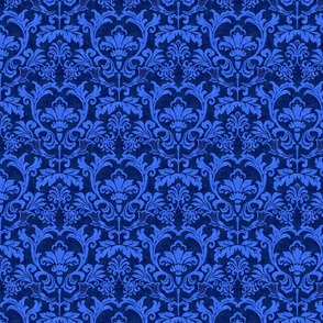 Blue Damask smaller scale