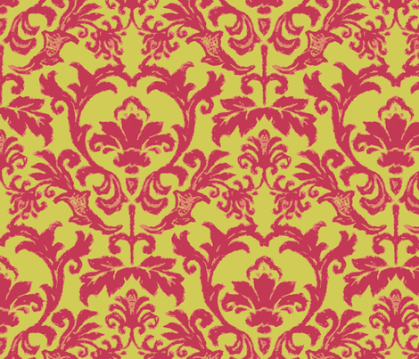 Damask Matisse Style fabric by littlerhodydesign on Spoonflower - custom fabric