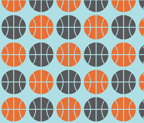 Gray/Orange Basketball fabric by audreyclayton on Spoonflower - custom fabric