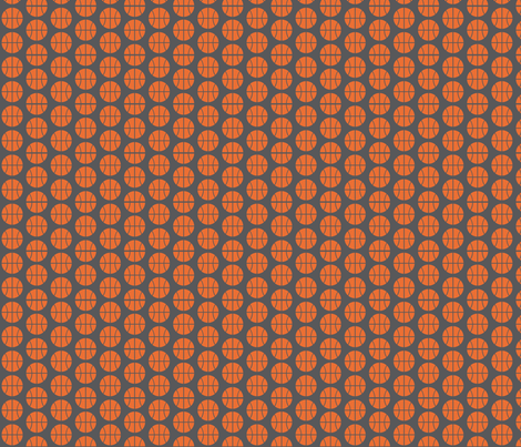 Small Half-Drop Orange Basketball fabric by audreyclayton on Spoonflower - custom fabric