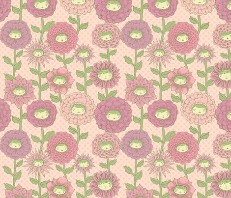 Talking Garden: Darling fabric by beeskneesindustries on Spoonflower - custom fabric