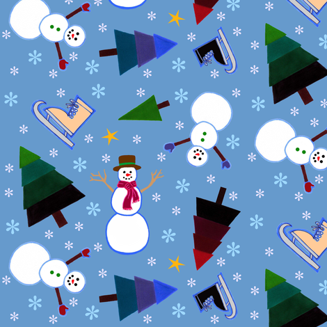 Winter Fun fabric by painter13 on Spoonflower - custom fabric