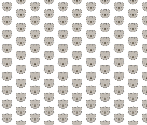 Koala Bear Face fabric by mintparcel on Spoonflower - custom fabric