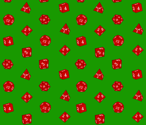 Red Christmas Dice fabric by tanith on Spoonflower - custom fabric