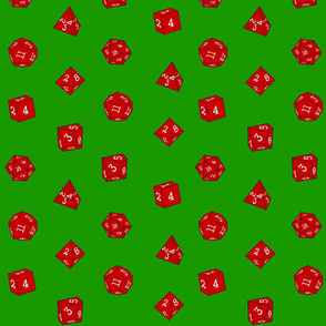 Red Christmas Dice