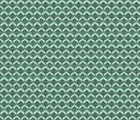 aqua mint_lotus fabric by crystal_walen on Spoonflower - custom fabric