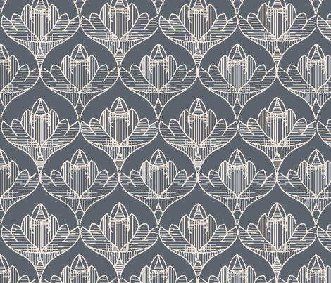 steel_gray_lotus fabric by crystal_walen on Spoonflower - custom fabric