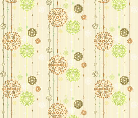 Flora snow  fabric by raindrop on Spoonflower - custom fabric