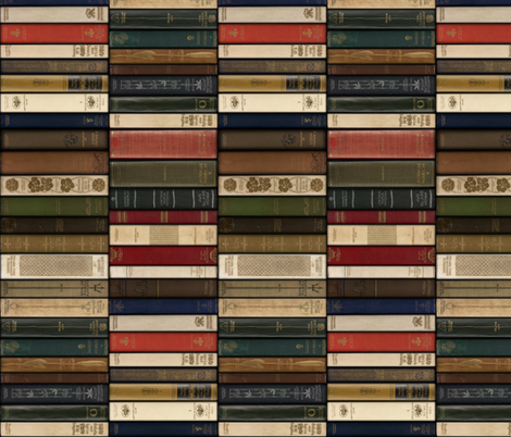 Madame Fancypantaloons' Instant Library ~ Vertical fabric by peacoquettedesigns on Spoonflower - custom fabric