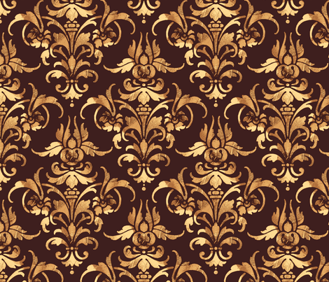 Parquet Damask fabric by peacoquettedesigns on Spoonflower - custom fabric