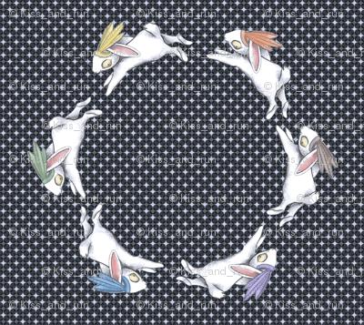 bunny circle. Small format