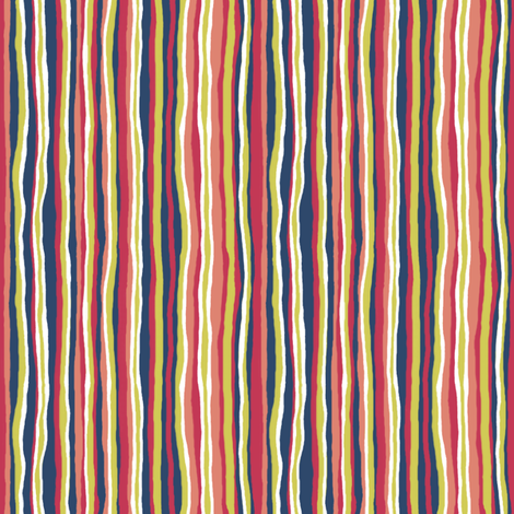 Matisse: Vertical Stripe Coordinate with White fabric by tallulahdahling on Spoonflower - custom fabric