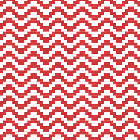 Brick zigzag - red fabric by little_fish on Spoonflower - custom fabric