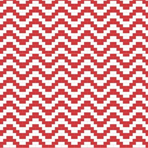 Brick zigzag - red