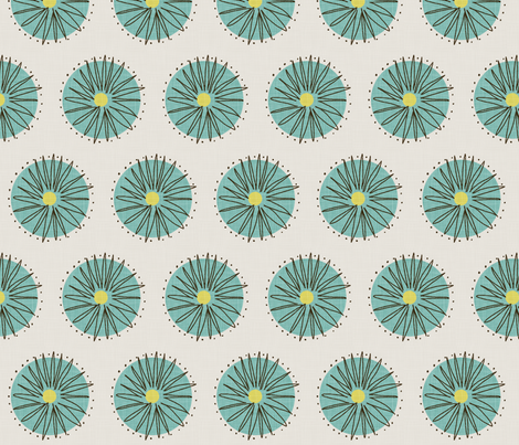 dandelion fabric by mummysam on Spoonflower - custom fabric