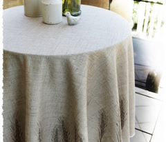 "56"" Round Bistro Tablecloth - Wheat"
