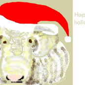 Happy Holiday Cow gift tags