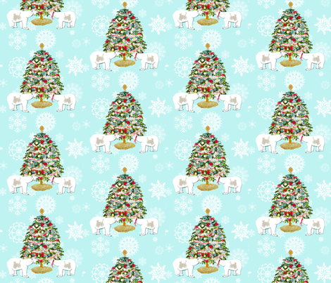 Polar Bear Christmas Tree fabric by karenharveycox on Spoonflower - custom fabric