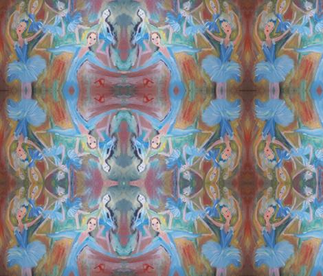 Ballet mash up fabric by myartself on Spoonflower - custom fabric