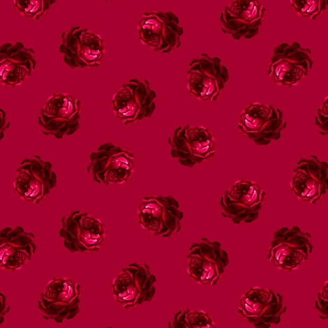 Test Swatch Roses fabric by joanmclemore on Spoonflower - custom fabric