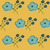 butter blue flower