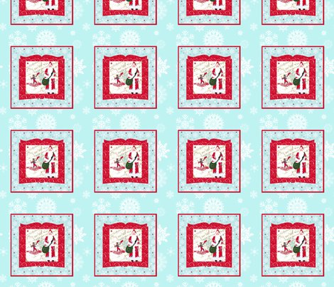 Once upon a time, Father Christmas fabric by karenharveycox on Spoonflower - custom fabric